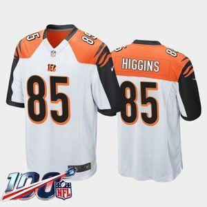 Cincinnati Bengals Tee Higgins White Jersey